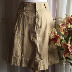 Ralph Lauren Ladies Circle Khaki Skirt Size 4 EUC